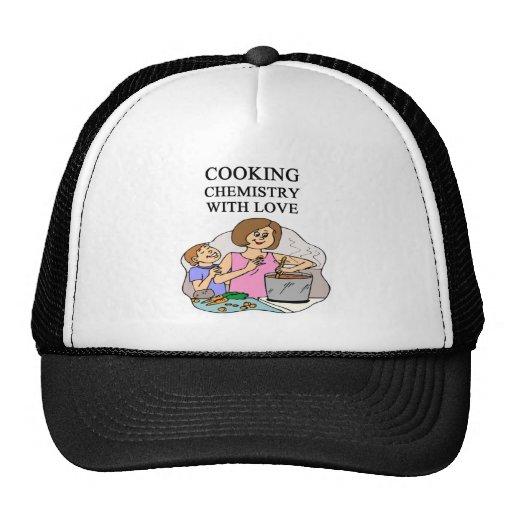 la química está cocinando gorros