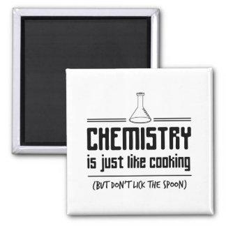 La química está cocinando imán cuadrado