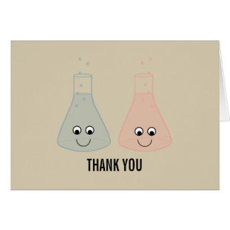 La química linda le agradece cardar tarjeta pequeña