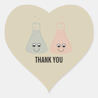 La química linda le agradece los pegatinas calcomanías de corazones