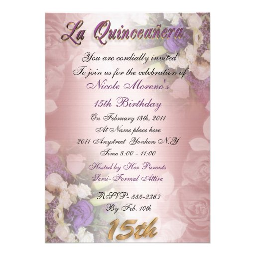 Quinceanera Birthday Invitations
