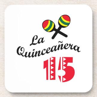 LA QUINCEANERA BEVERAGE COASTERS