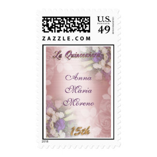 La Quinceanera invitation elegant postage