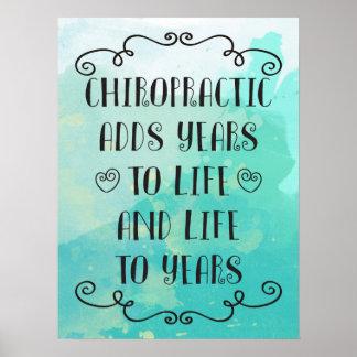 La quiropráctica añade vida al poster de los años