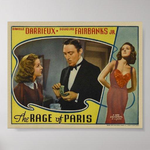 La rabia del cartel de película del vintage de Par Posters