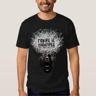 La rabia es camiseta VIVA de Edun de la locura Poleras