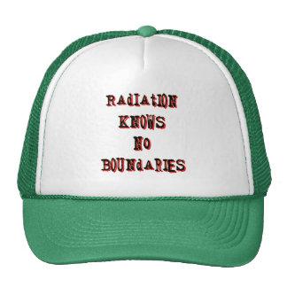 La radiación no sabe ningún límite antinuclear gorras de camionero