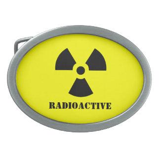La radiación RADIACTIVA Halloween del símbolo se Hebillas Cinturón Ovales