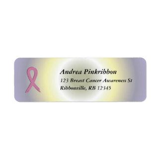 La radial colorido rosado de Avery del cáncer de p Etiqueta De Remite