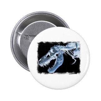 La radiografía azul y negra de T-Rex deshuesa la f Pin Redondo 5 Cm