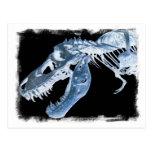 La radiografía azul y negra de T-Rex deshuesa la f Postal