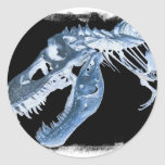 La radiografía azul y negra de T-Rex deshuesa la Etiqueta Redonda