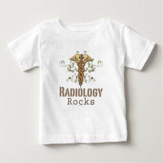 La radiología oscila la camiseta del bebé de la playeras