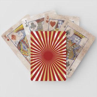 La ráfaga sucia alinea naipes baraja de cartas