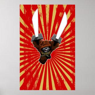 La ráfaga sucia de la estocada de la espada de Bru Poster