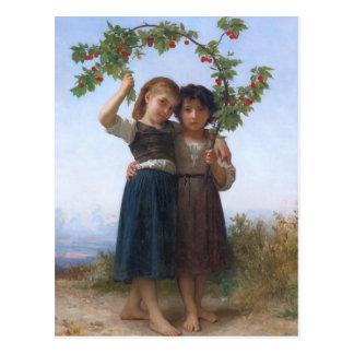 La rama de la cereza por Bouguereau Tarjetas Postales