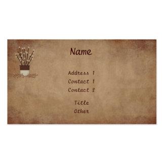 La rama enciende la tarjeta de visita
