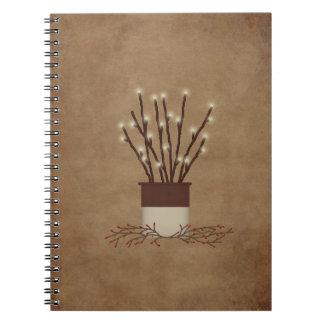 La rama primitiva enciende el cuaderno