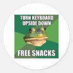 La rana asquerosa del soltero libera Snscks Etiqueta