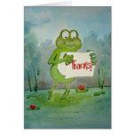 """La rana caprichosa linda """"agradece"""" la tarjeta de"""