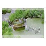 La rana de la charca le agradece tarjetón
