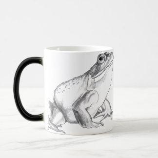 La rana de la taza del arte de la rana mugidora