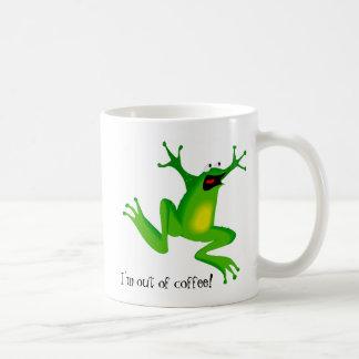 La rana del pánico necesita el café taza básica blanca