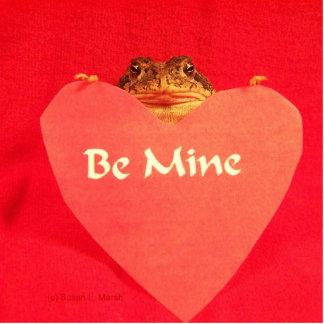 ¿La rana del sapo que lleva a cabo un corazón que  Escultura Fotográfica