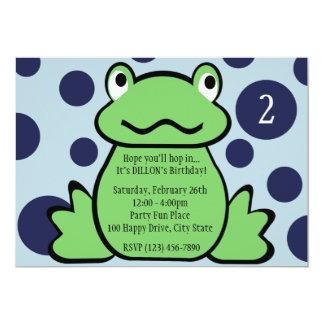 """La rana embroma cumpleaños invitación 5"""" x 7"""""""