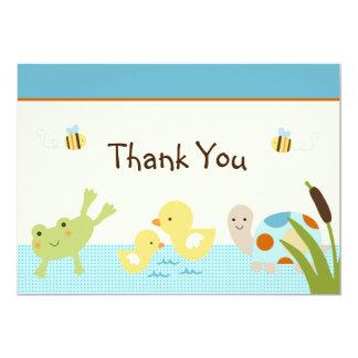 La rana en la fiesta de bienvenida al bebé de la invitación 12,7 x 17,8 cm