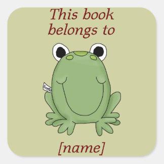 La rana linda este libro pertenece al pegatina de