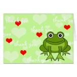 La rana linda le agradece cardar felicitación