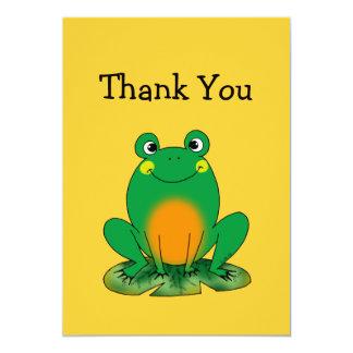 """La rana linda le agradece las tarjetas invitación 5"""" x 7"""""""