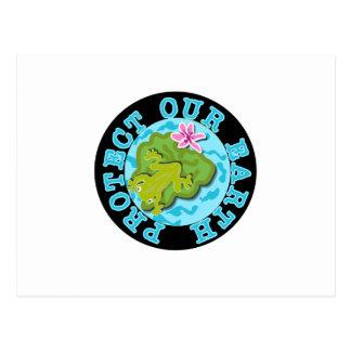 La rana protege nuestra tierra tarjeta postal