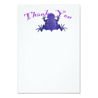 """La rana púrpura le agradece las notas invitación 3.5"""" x 5"""""""