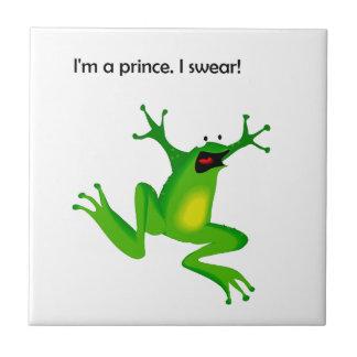 La rana que lo piensa es príncipe Cartoon Teja Ceramica