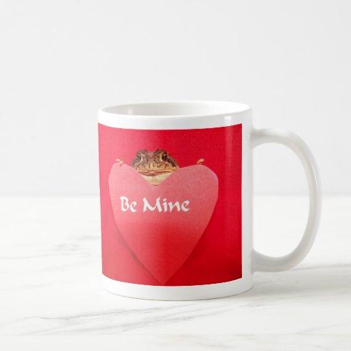 La rana sea la mía detrás de corazón tazas de café