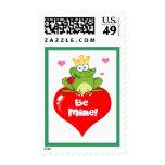 La rana sea príncipe el día de San Valentín de la Franqueo