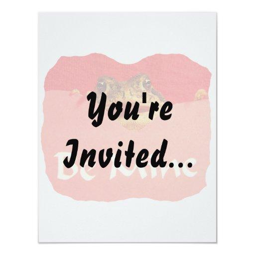 La rana sea tarjeta del día de San Valentín del Invitaciones Personalizada