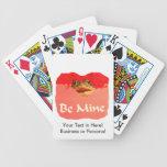 La rana sea tarjeta del día de San Valentín del re Barajas De Cartas