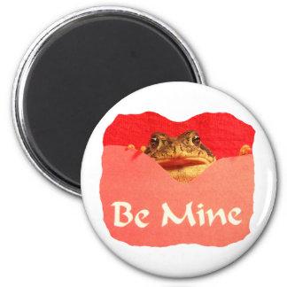 La rana sea tarjeta del día de San Valentín del re Imán Redondo 5 Cm