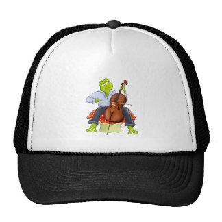 La rana toca el violoncelo gorras de camionero