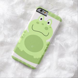 La rana verde dulce embroma el caso del iPhone 6 Funda De iPhone 6 Barely There
