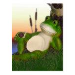 La rana y el caracol postal