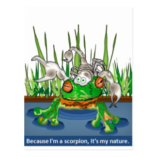 La rana y el escorpión tarjetas postales
