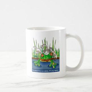 La rana y el escorpión tazas