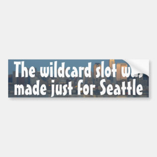 La ranura del comodín fue hecha apenas para Seattl Etiqueta De Parachoque