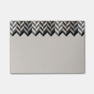 La raspa de arenque confinada gris raya el modelo post-it nota