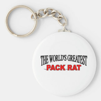 La rata del paquete más grande del mundo llavero redondo tipo pin