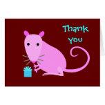 La rata linda le agradece cardar felicitacion